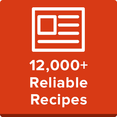 12,000+ Reliable Recipes