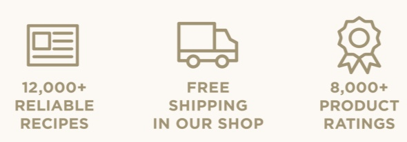 12,000 Reliable Recipes. Free Shipping in our Shop. 8,000+ Product Ratings.